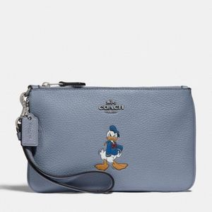 Disney x Coach small wristlet Donald duck NWT